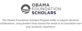 Obama Foundation Scholars Masters Program at Chicago University 2019/2020
