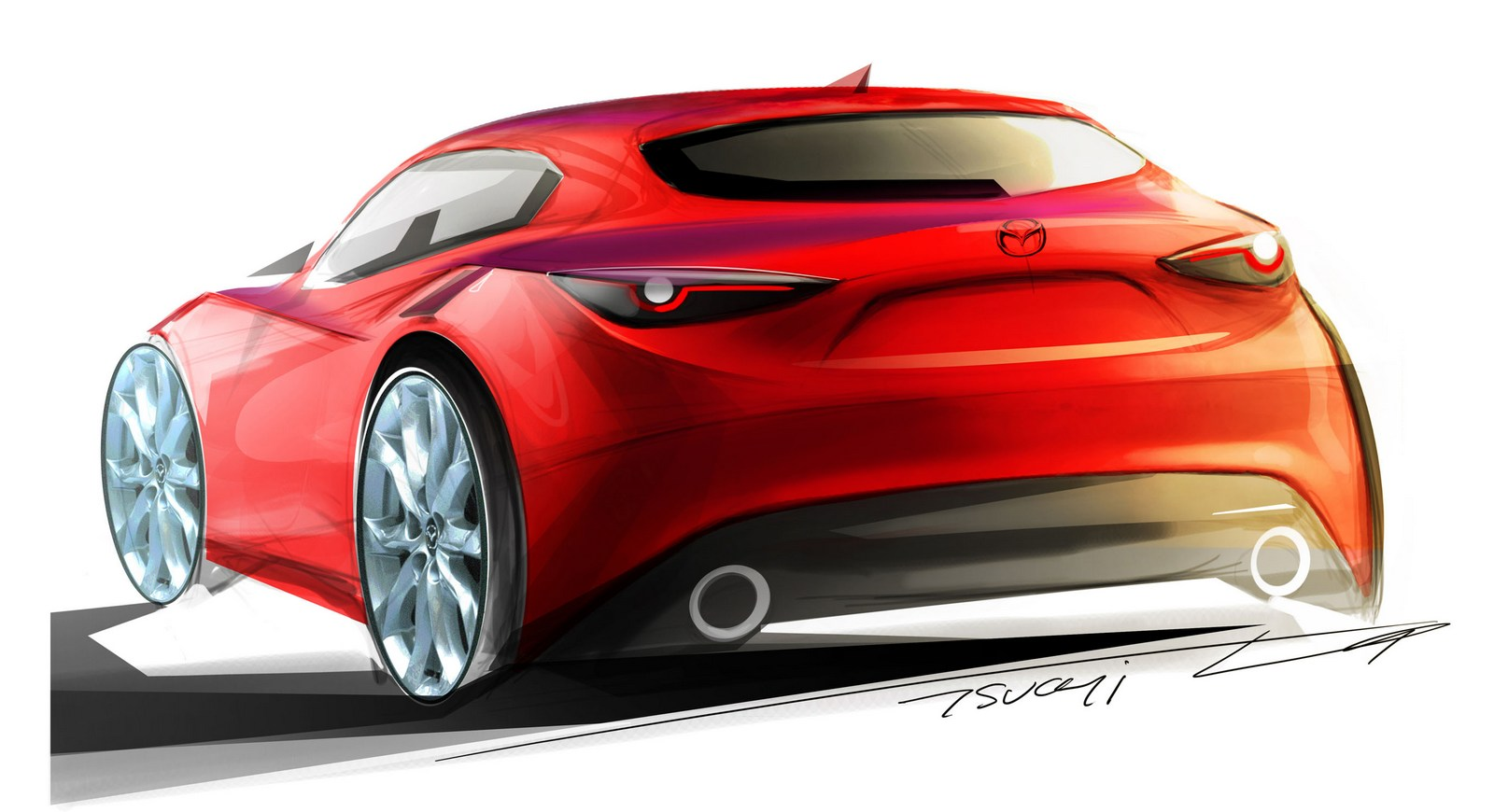 mazda3 concept reportedly headed to tokyo with an hcci engine carscoops. Black Bedroom Furniture Sets. Home Design Ideas