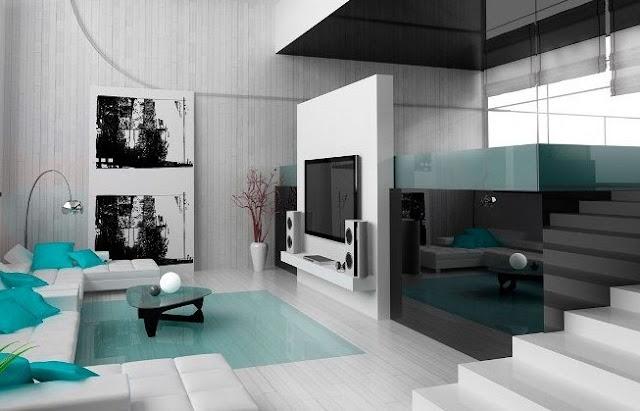 interior rumah minimalis 2 lantai type 36 lantai 1