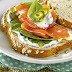 Sandwich de Salmón y Queso crema