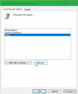 Cara Menghilangkan Tombol Shutdown Di Windows 10-3