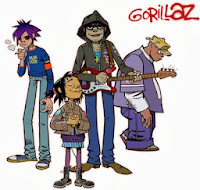 Dibujo del grupo virtual Gorillaz