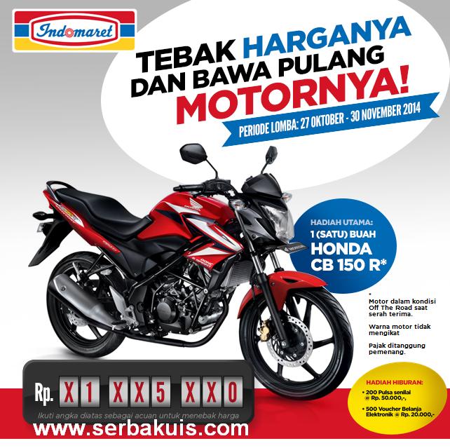 Tebak Harga Motor Berhadiah Motor Honda CB150R