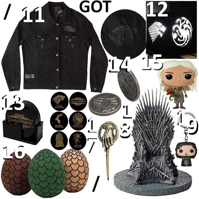 Produtos inspirados na série Game of Thrones