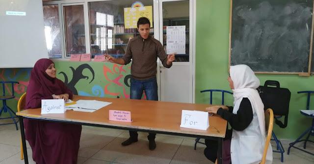 مسابقة في  الإملاء والمناظرة في اللغة الانجليزية بالطنطان