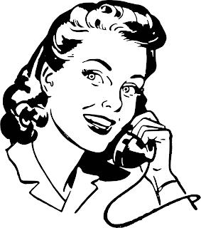 piirros naisesta puhumassa puhelimeen