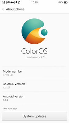 [ROM] Oppo N3 ColorOS 2.1.0i Rom for My|Phone My31 Octacore (mt6592) Screenshots