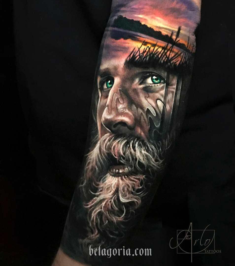 tatuaje vikingo de ragnar