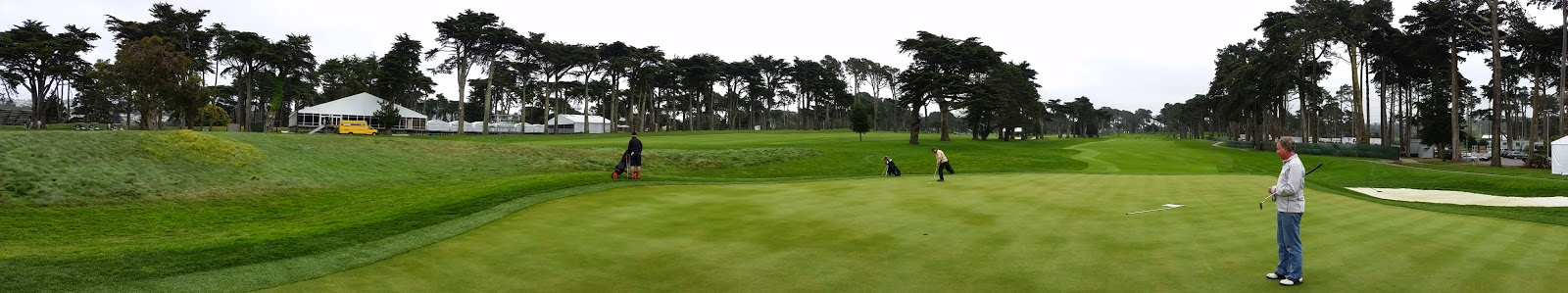 Harding Park 9th green panorama
