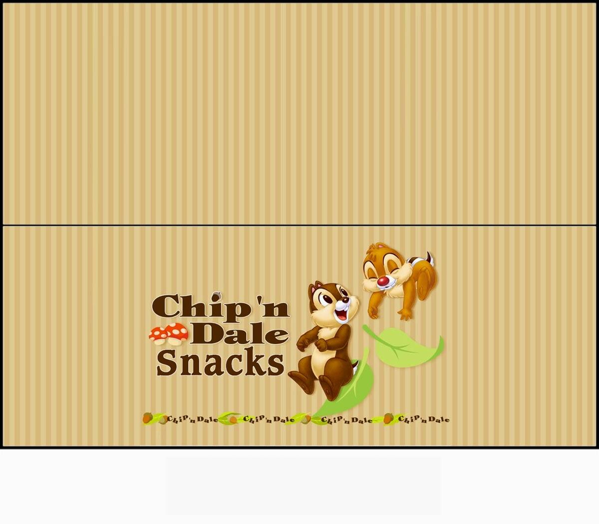 Chip y Dale: Etiquetas para Bolsas de Golosinas para Imprimir Gratis ...