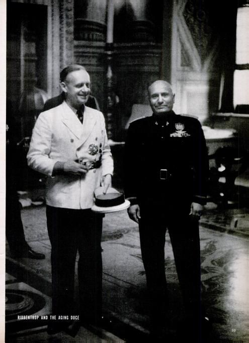 Ribbentrop Mussolini worldwartwo.filminspector.com 10 March 1940