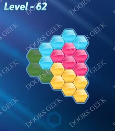 Block! Hexa Puzzle [Rainbow A] Level 62 Solution, Cheats, Walkthrough for android, iphone, ipad, ipod