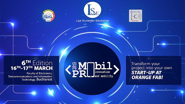 MobilPRO 2019 - concurs internațional anual de idei și aplicații software și hardware, ediția a 6-a