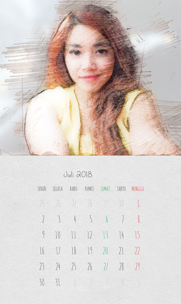 Desain Kalender Indonesia 2018 - Juli
