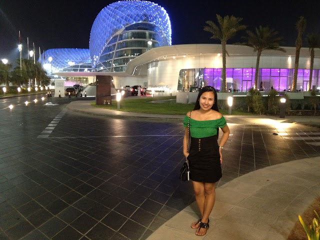 Lady at Viceroy Hotel Yas Island Abu Dhabi