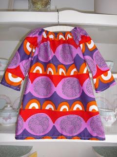 разноцветное детское платье