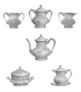 tea teapot kitchen printable illustrations image