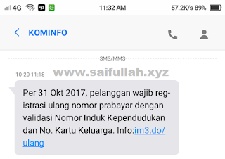 sms, kominfo, kewajiban registrasi, kartu telekomunikasi