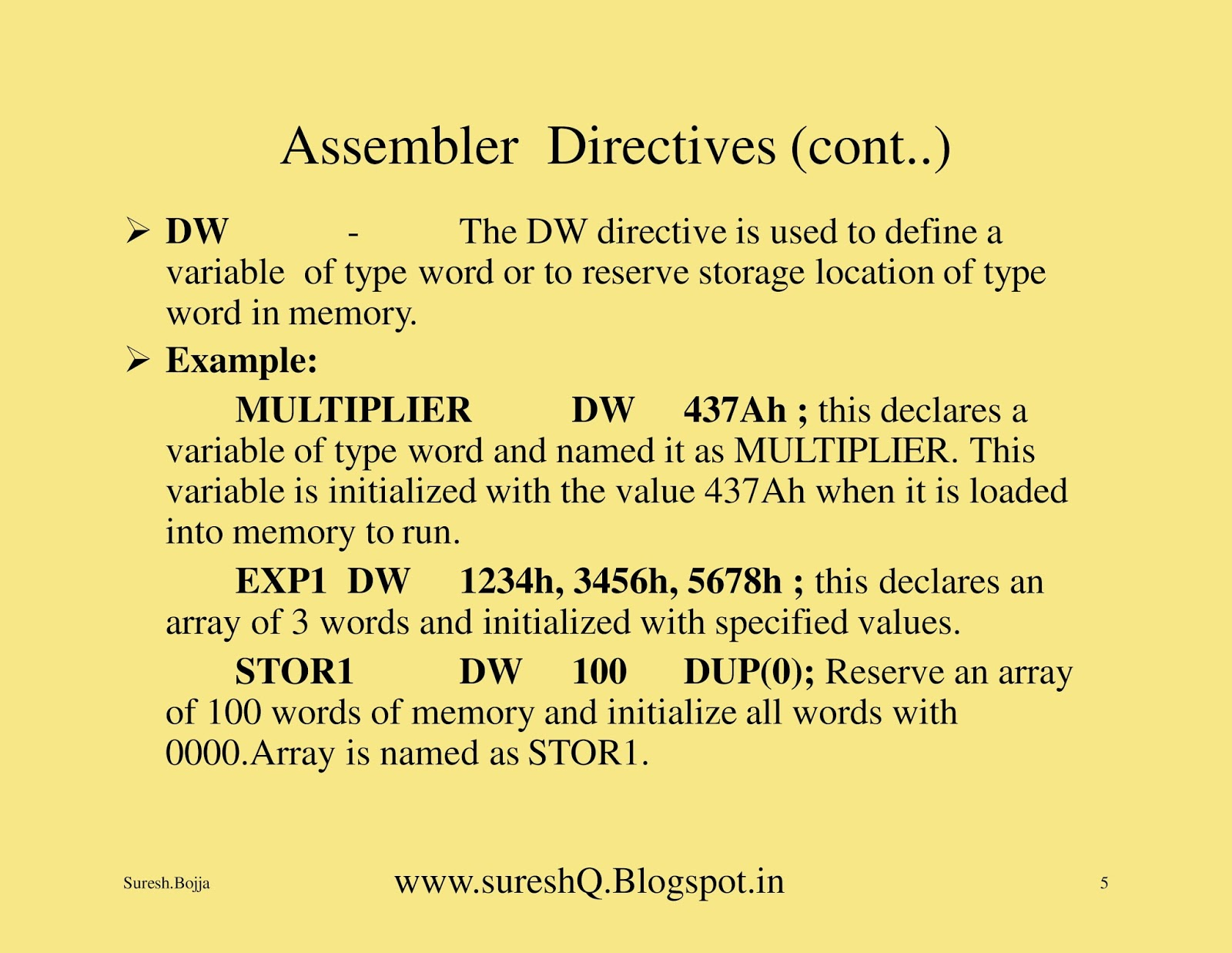 what is an assembler directive