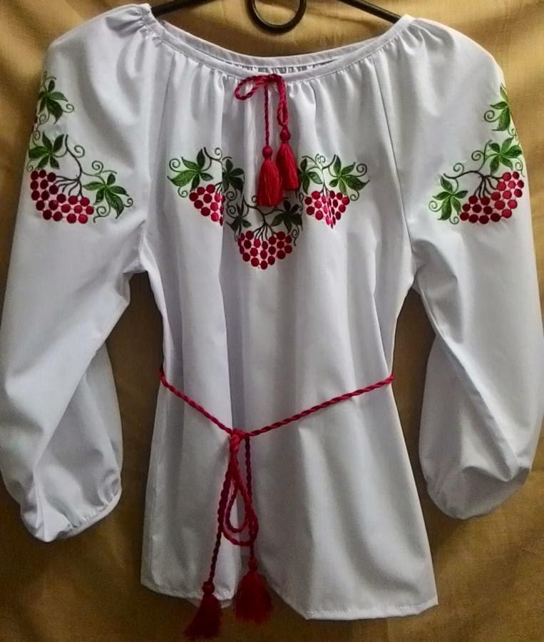 """Детская вышиванка """"Рябинка"""" - машинная вышивка"""