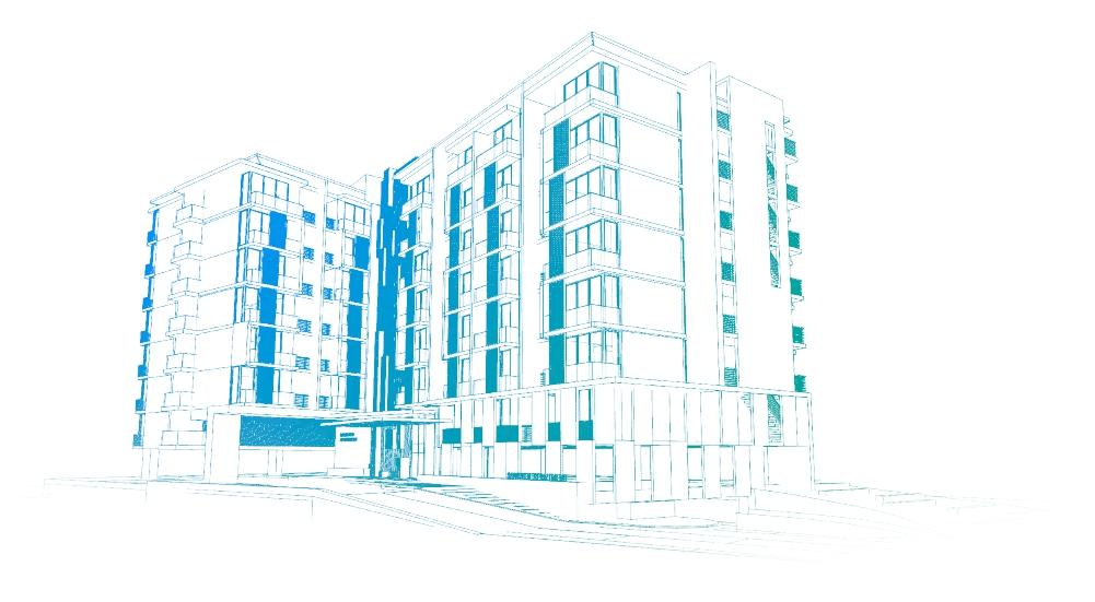 Sketsa Bangunan Apartemen
