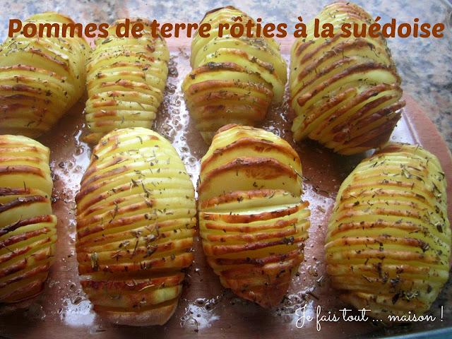 Recette pommes de terre rôties au four à la suédoise