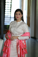 Mannara Chopra in Silky White Salwar Suit with Pink Chunni Latest Exclusive Pics March 2017 ~  058.JPG