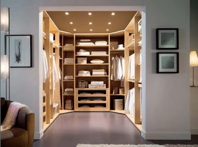 modern dressing room designs with lighting system