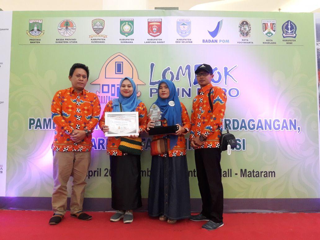 Lombok Expo, Lambar Raih Juara III