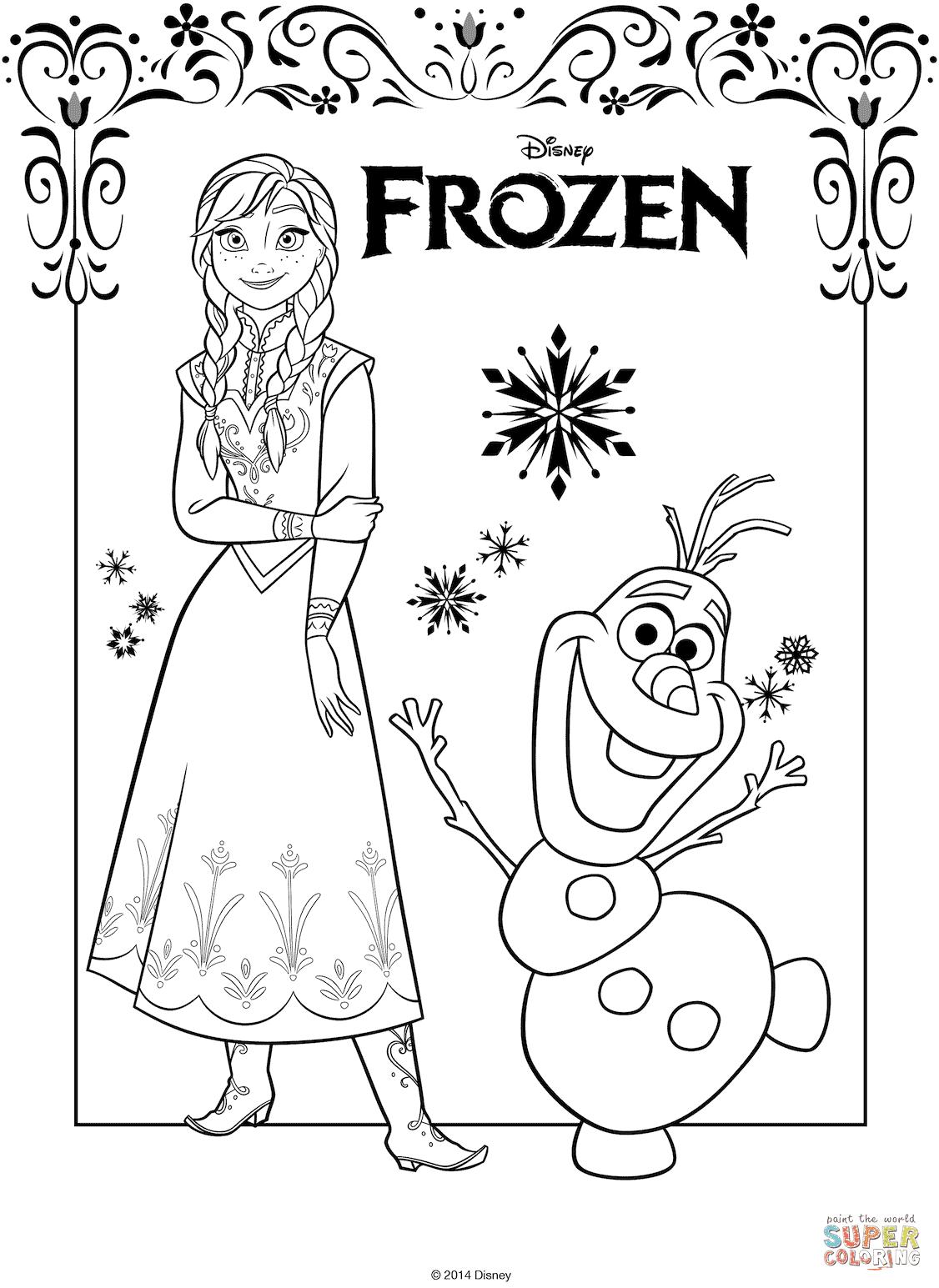 10 Mewarnai Gambar Frozen 5
