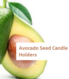 Avocado Seed Candle Holders
