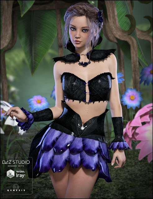 Gossamer Outfit for Genesis 3 Female