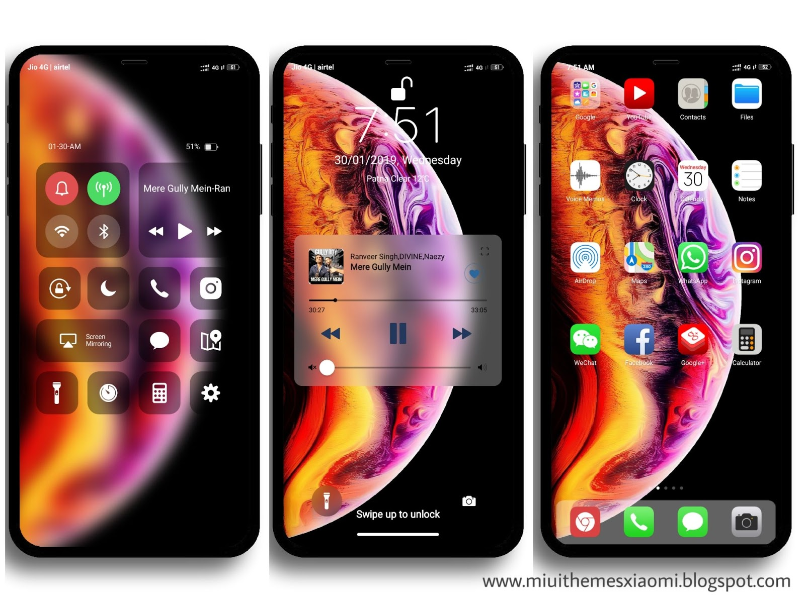 iPhone X V10 MIUI Theme Download For Xiaomi Mobile || MIUI Themes