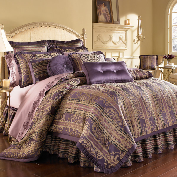 Purple And Gold Comforter Sets