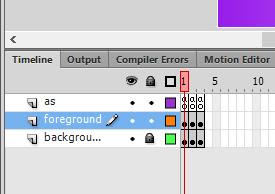 Layer dan Frame yang dibutuhkan untuk membuat game Hangman
