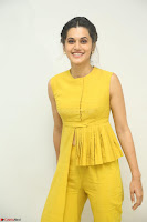 Taapsee Pannu looks mesmerizing in Yellow for her Telugu Movie Anando hma motion poster launch ~  Exclusive 129.JPG