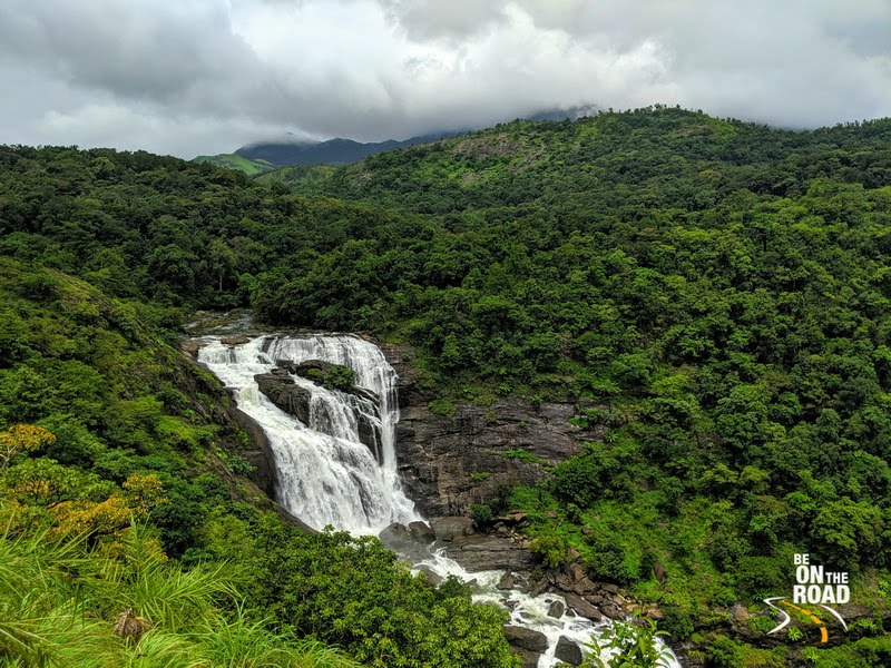 Mallalli Falls, Kumaradhara river and Pushpagiri mountains