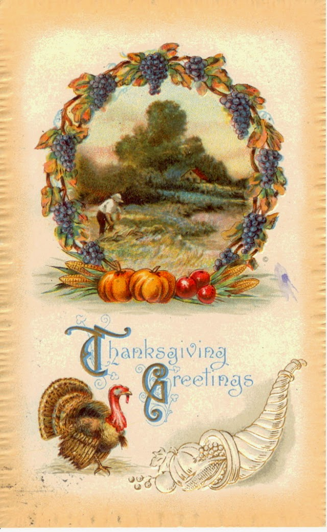 Now Take A Look Below At Colorful Collection Of 25 Vintage Thanksgiving Postcard Illustrations Via Bulldoggrrl