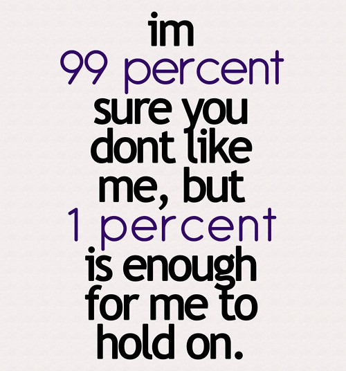 I am 99 percent sure you dont like me but | Saying Pictures