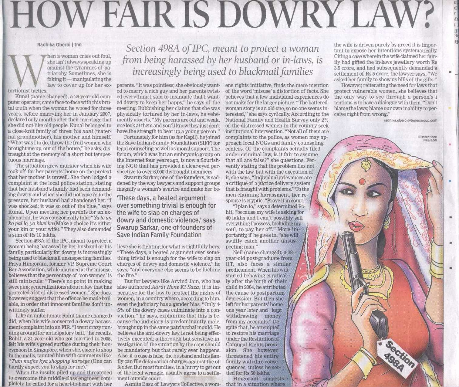 anti dowry law misuse