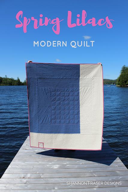 Modern Quilt | Shannon Fraser designs | Modern quilting | Essex Line | Kaffe Fasset Shot Cotton | Quilts in the wild | Pieced quilt back | Straight line quilting