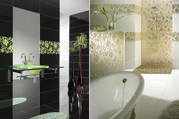 elegant glossy glass tiles for kitchen and bathroom