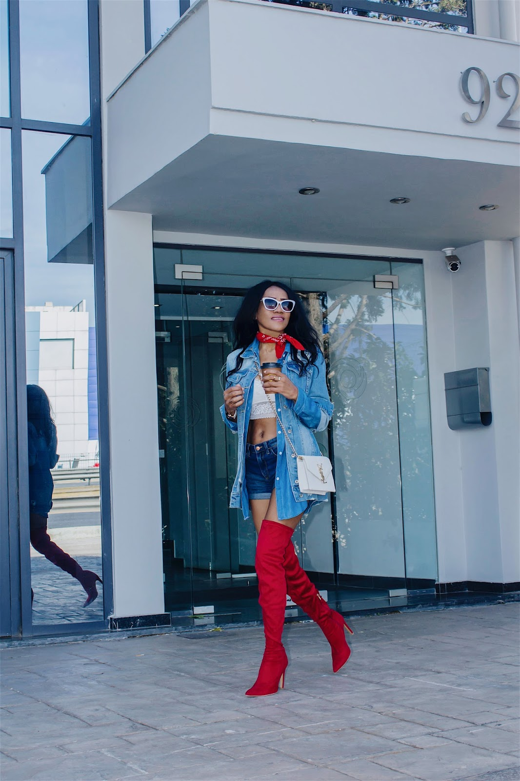 9e715afd3e95 ... vibrant color and these boots will turn heads wherever I go. I'm so  ready for the winter with the warm, stunning, trendy red over-the-knee boots
