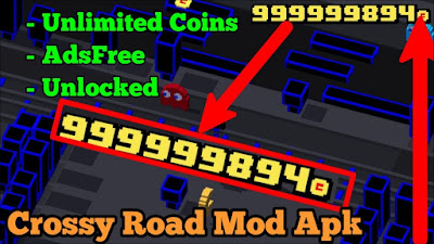 Crossy Road Mod Apk Unlimited Coins