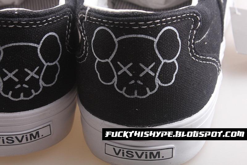 online retailer 20b0e 6ddfc ... FUCK HYPE Visvim Zahra x Original Fake Kaws Slip Ons (Pre-Order) ...