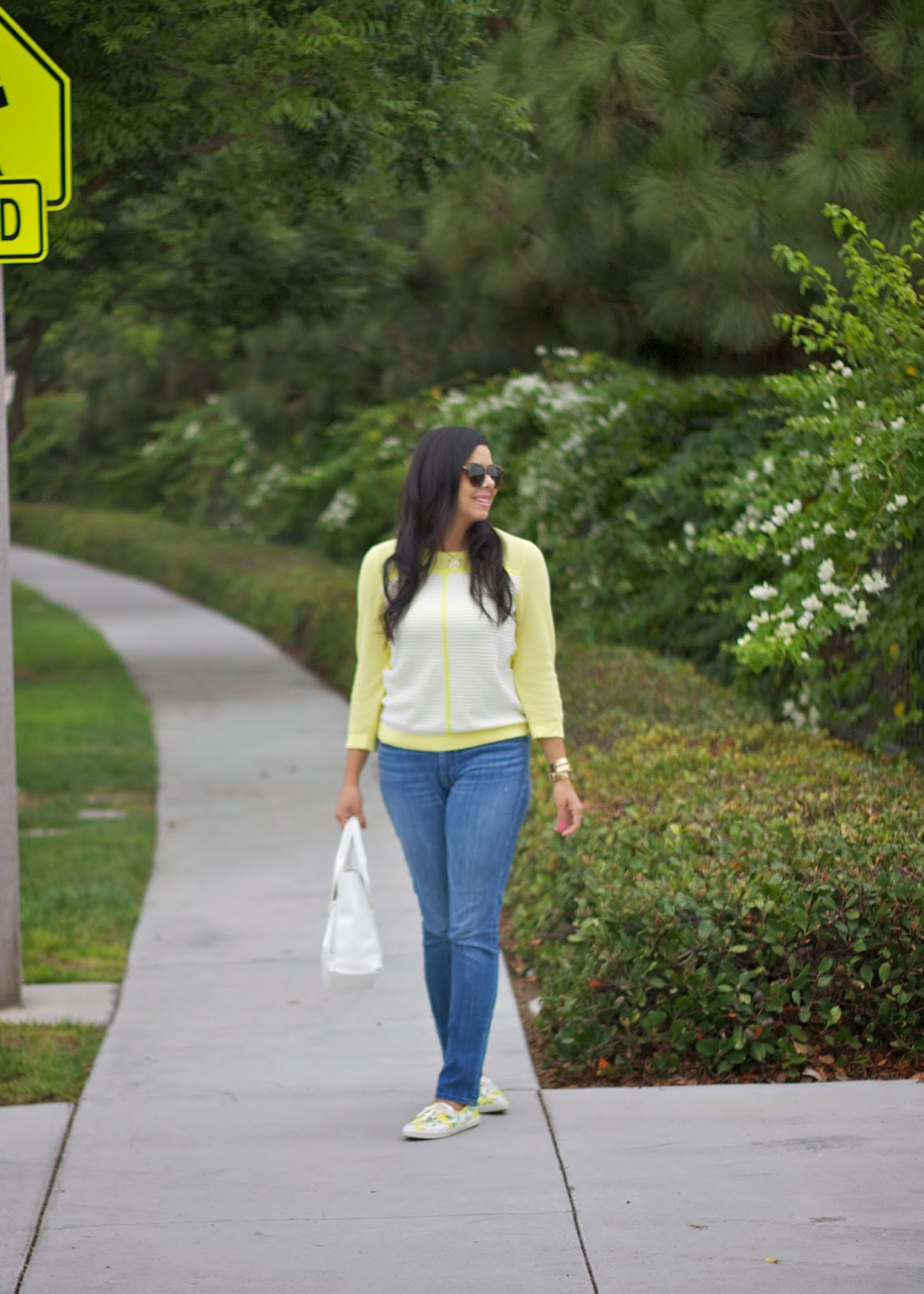 back to school outfit, yellow tommy hilfiger sweater, tommy hilfiger blogger, tommy hilfiger fashion valley blogger, fashion valley san diego blogger