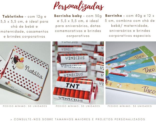 Tabela de Barrinhas - Chokolateria Karla Alves Leal