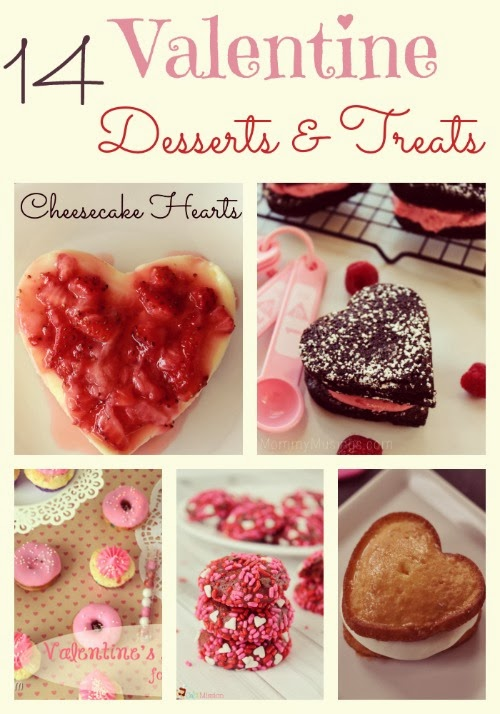 14 Dessert and Treat Ideas #Valentine #Recipes #Dessert