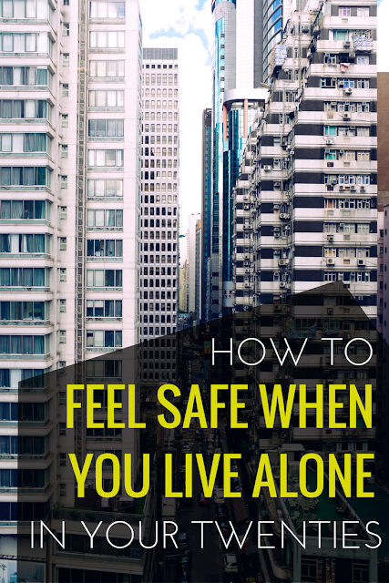 Living alone in your twenties can feel scary, which is why it's so important to make sure you have a plan for those days you feel unsafe. Click to read the things I do to make sure I'm always safe in my apartment and neighborhood.