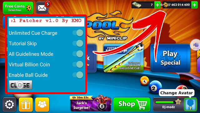 8 Ball Pool Hack 3.10.3 Patcher Mega MOD APK | Virtual ...